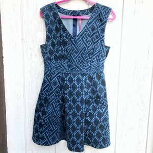 Anthro Plenty by Tracy Reese Printed Denim Frock